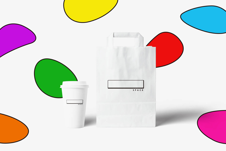 カフェのブランディング_テイクアウト用パッケージのデザイン