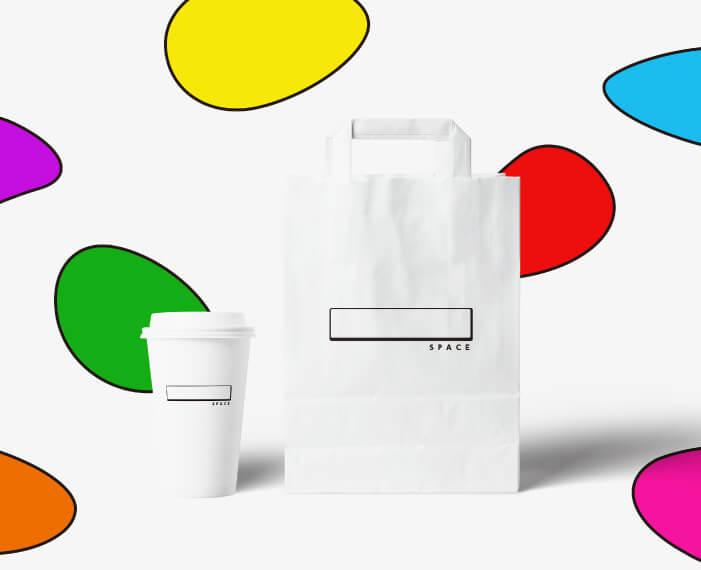 カフェ兼ギャラリーのロゴデザイン_愛知県名古屋市 SPACE