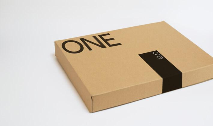アパレルブランドのパッケージデザイン_愛知県名古屋市 ONE