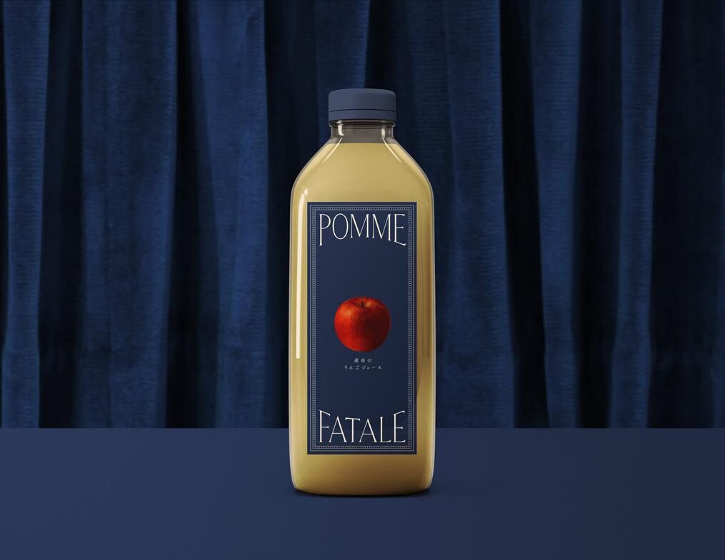りんご農家のブランディング_ジュースのパッケージのデザイン