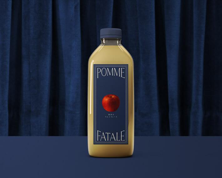 りんご農園のブランディング_りんごジュースのパッケージデザイン