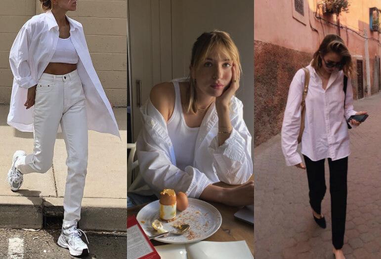 シンプルなベーシックコーデ_おすすめの白いシャツ