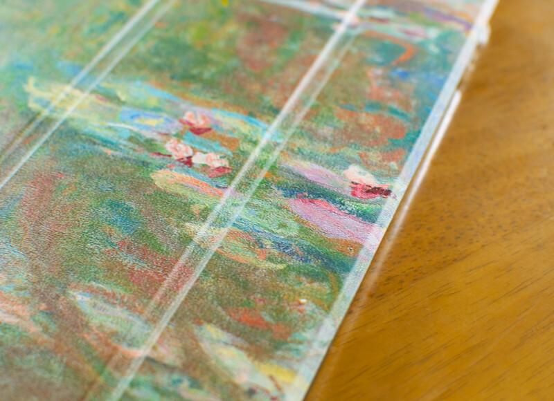 絵画デザインの三つ折りiPadケース_モネ