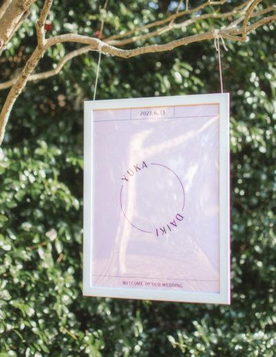 結婚式のウェルカムボード_ミニマルでおしゃれなデザイン_ディスプレイイメージ