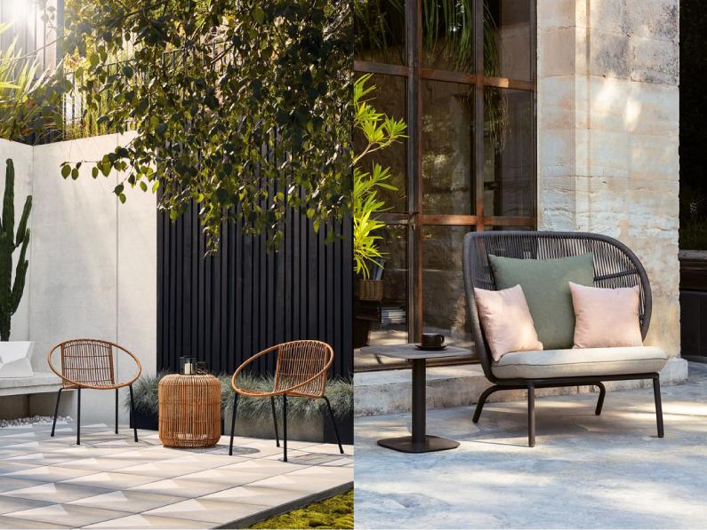 おしゃれな屋外用ガーデンテーブル&チェア_バルコニースタイル