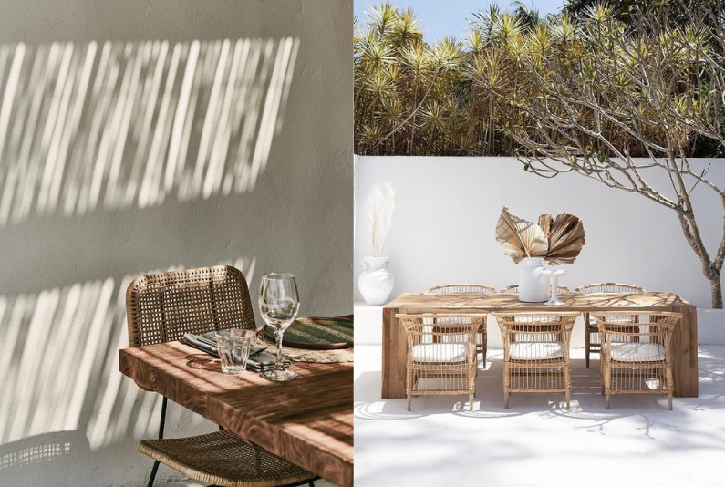 おしゃれな屋外用ガーデンテーブル&チェア_ダイニングスタイル