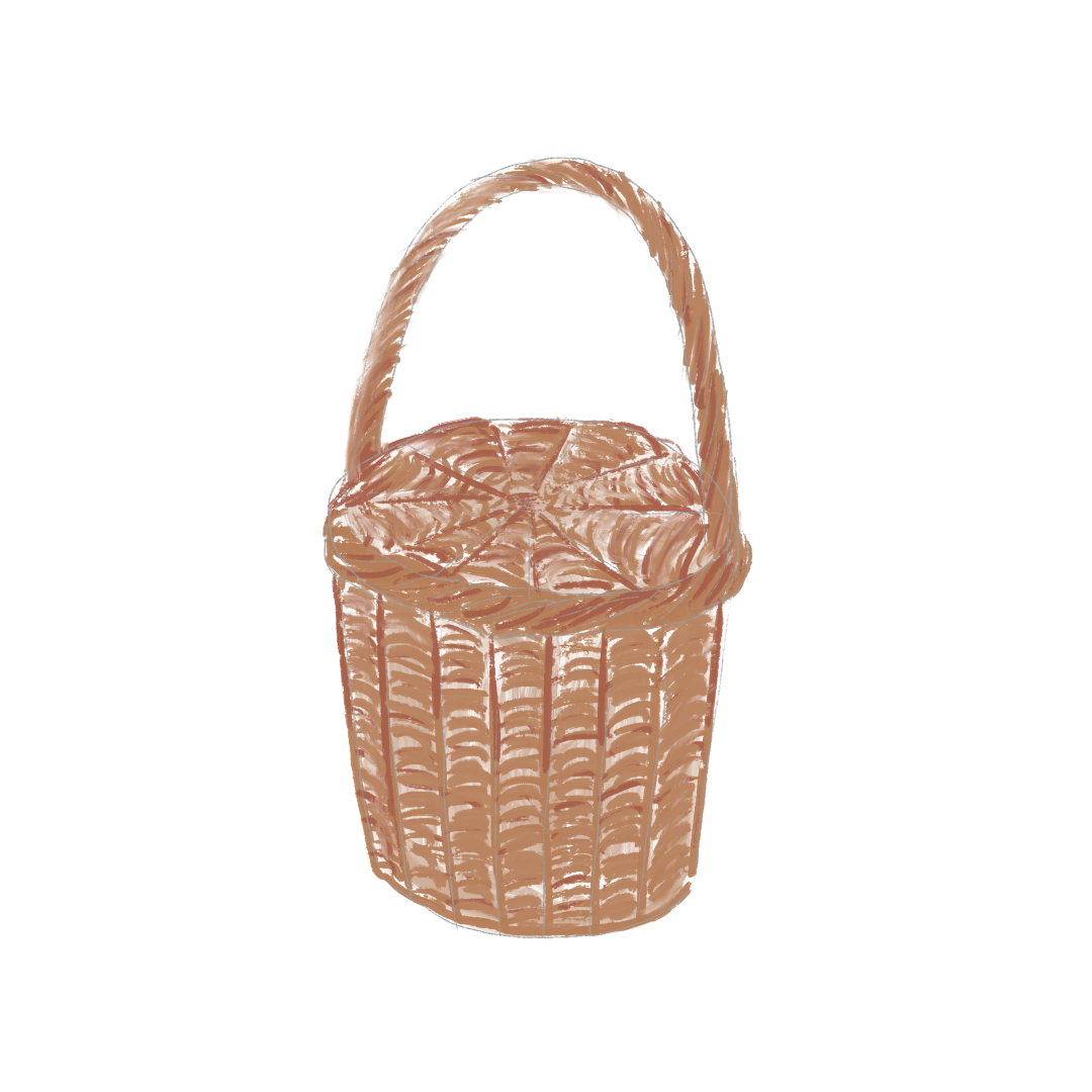 海外風おしゃれピクニックの持ち物_バスケット