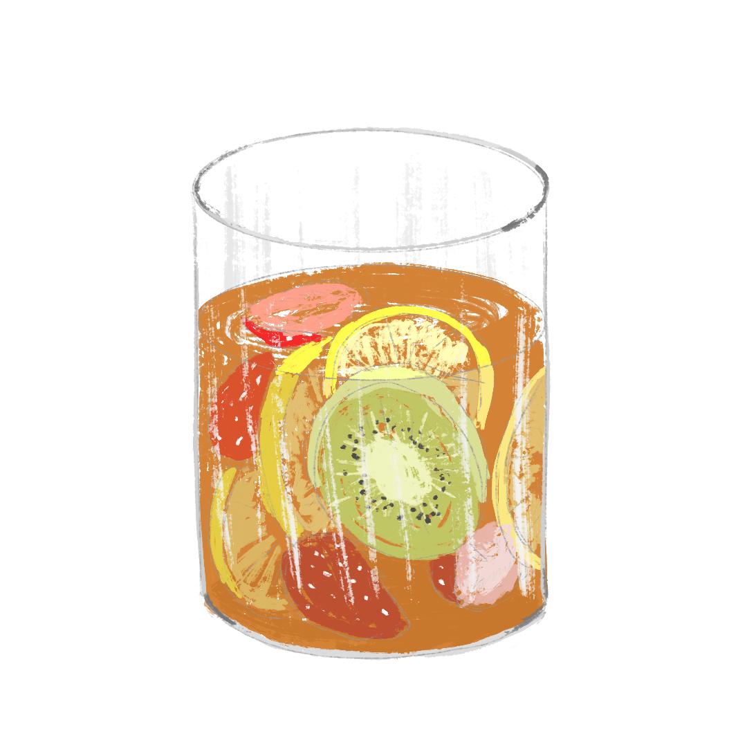 海外風おしゃれピクニックのおすすめレシピ_フルーツアイスティー