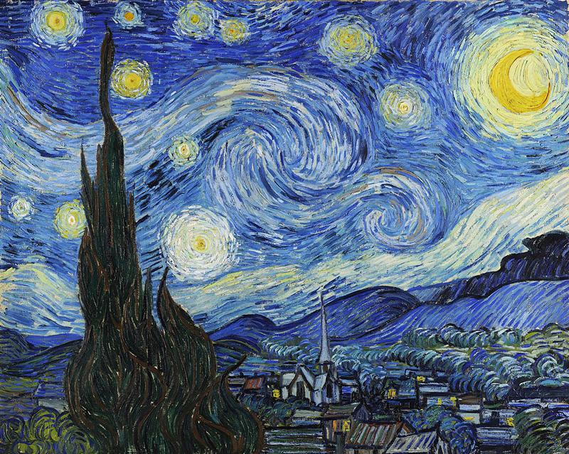 初心者も簡単なiPadの油絵イラスト_AdobeFresco_ゴッホの星月夜