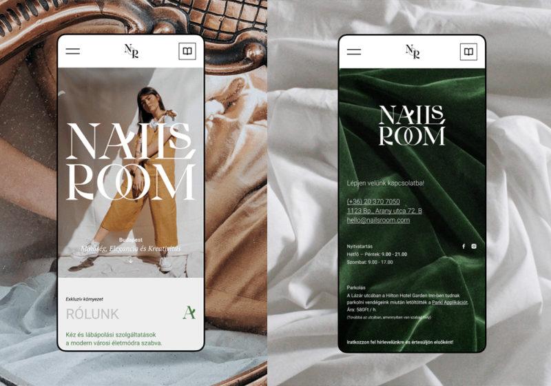 ハンガリーのネイルサロン「NAIL's Room」のモバイルサイト
