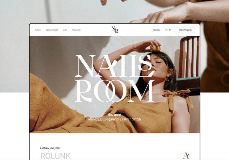 ハンガリーのネイルサロン「NAIL's Room」のホームページ・webデザイン