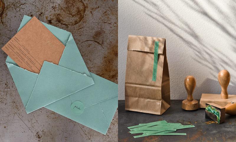 ポーランドのヘアサロン「PIÙ」のdmとパッケージデザイン